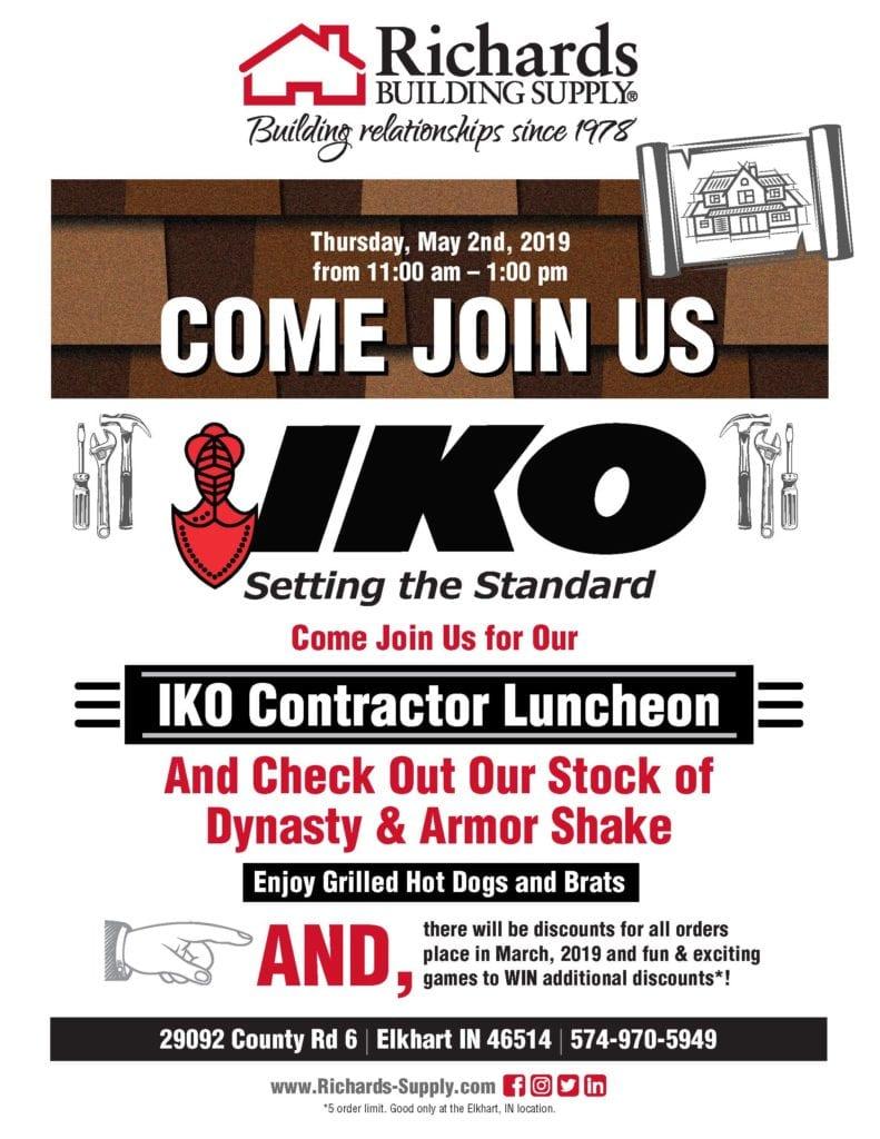 IKO Contractor Luncheon - RichardsBuildingSupply